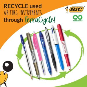 Recycled writing pens